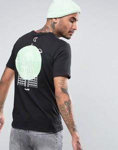 Черная футболка с принтом на спине Nike SB Dri-FIT 841550-010 - Черный
