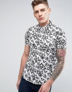 Рубашка с короткими рукавами и цветочным принтом Brave Soul - Черный