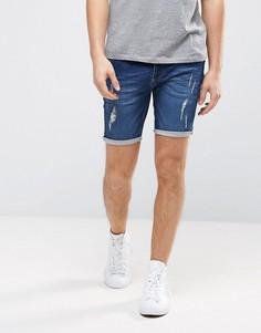 Рваные джинсовые шорты Brave Soul - Синий