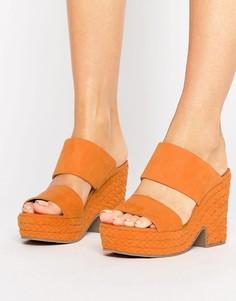 Сабо с плетеной отделкой ASOS TRINIDAD - Оранжевый