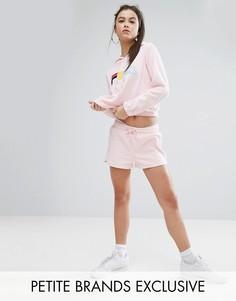 Комбинируемые махровые шорты Fila Petite - Розовый