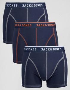 3 пары боксеров-брифов Jack & Jones - Темно-синий