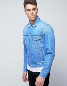 Синяя джинсовая куртка Pepe - Синий