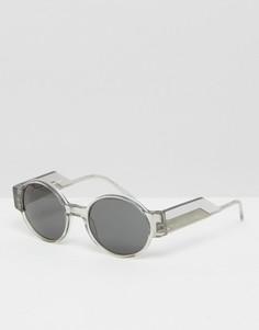Круглые солнцезащитные очки Kaibosh Untamed - Прозрачный