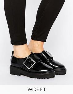 Туфли на плоской подошве для широкой стопы ASOS MEGAN - Черный