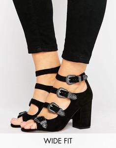 Туфли в стиле вестерн для широкой стопы ASOS OGDEN - Черный