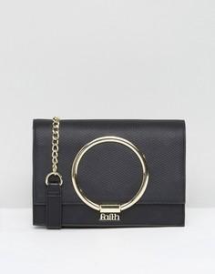 Сумка через плечо с металлической отделкой Faith - Черный