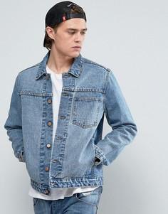 Синяя джинсовая куртка с одним карманом ASOS - Синий