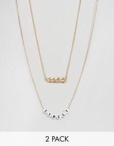 Набор из цепочки с крупными звеньями и ожерелья ASOS - Мульти