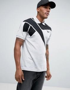 Серая футболка-поло в стиле ретро Reebok BK6579 - Серый