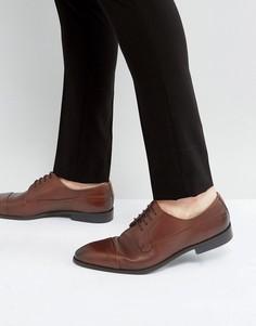 Коричневые кожаные строгие туфли New Look - Рыжий
