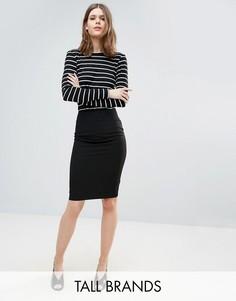 Строгая юбка-карандаш New Look Tall - Черный