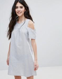 Свободное платье с открытыми плечами Brave Soul - Мульти