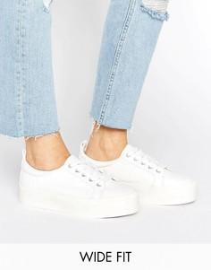 Кроссовки на платформе для широкой стопы ASOS DUSTY - Белый