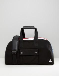 Черная большая сумка с трехцветной вставкой Le Coq Sportif - Черный