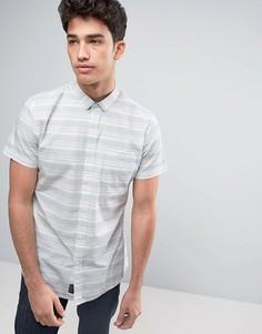 Рубашка в приглушенную зеленую полоску Threadbare - Зеленый