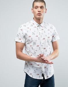 Рубашка с пальмовым принтом Threadbare - Белый