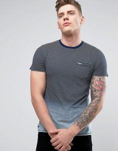 Полосатая футболка с эффектом деграде Threadbare - Темно-синий