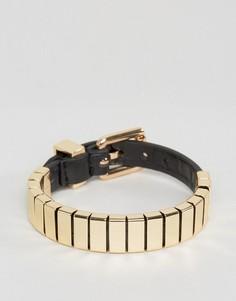 Черный браслет с застежкой на пряжку ASOS - Черный