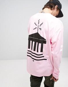 Лонгслив с принтом на спине Carhartt WIP - Розовый