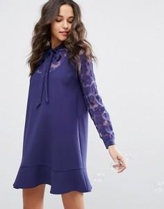 Платье с завязкой на бант Paul & Joe Sister - Синий