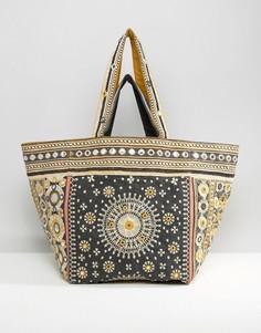 Большая пляжная сумка с вышивкой Star Mela - Мульти