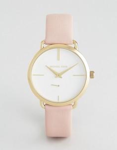 Часы с розовым кожаным ремешком Michael Kors MK2659 Cinthia - Розовый