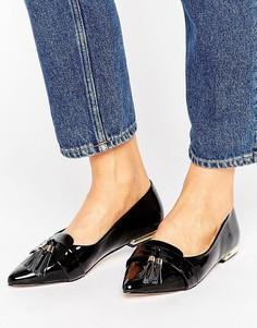 Туфли на плоской подошве с кисточками и острым носком Miss KG Nikki - Черный