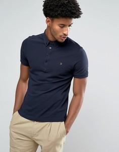 Темно-синяя меланжевая футболка-поло с короткими рукавами Farah Merriweather - Темно-синий
