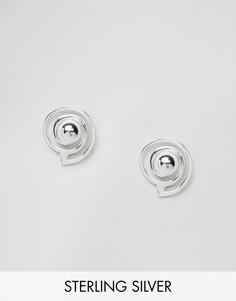 Серебрянные серьги-подвески ASOS - Серебряный