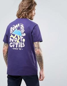 Фиолетовая футболка с надписью Bomb Hills Not Cities Element - Фиолетовый