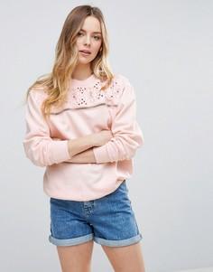 Свитшот с вышивкой Parisian - Розовый