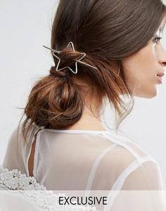 Заколка для волос в виде звезды Orelia - Золотой