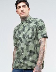 Рубашка с короткими рукавами и принтом YMC - Зеленый