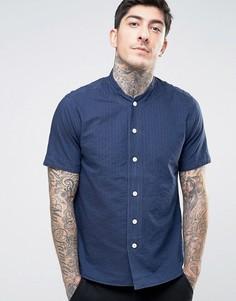 Бейсбольная рубашка в простроченную полоску YMC - Темно-синий