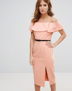 Платье-футляр с поясом Millie Mackintosh - Розовый