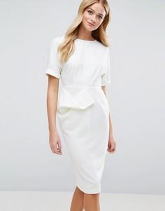 Фактурное платье-карандаш ASOS - Белый