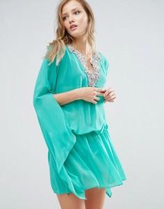 Пляжное платье с расклешенными рукавами Forever Unique - Зеленый
