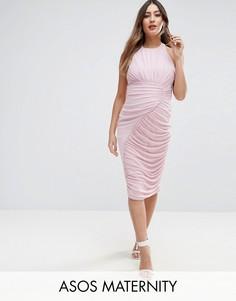 Платье с присборенным дизайном ASOS Maternity - Фиолетовый