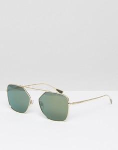 Квадратные солнцезащитные очки Emporio Armani - Золотой