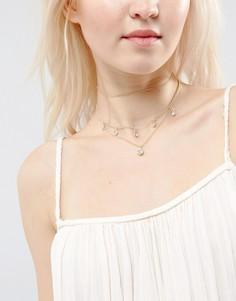 Ожерелье-чокер в несколько рядов с кристаллами ASOS - Прозрачный