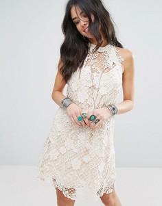 Кружевное платье для вечеринок Free People - Белый