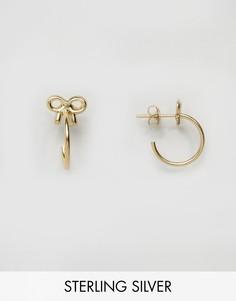 Позолоченные серьги-кольца 24мм из серебра ASOS - Золотой