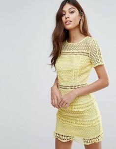 Кружевное платье Liquorish - Желтый