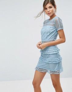 Кружевное платье Liquorish - Синий