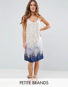 Платье на бретельках с принтом Yumi Petite - Мульти
