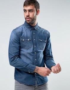 Джинсовая рубашка в стиле вестерн Dead Vintage - Синий