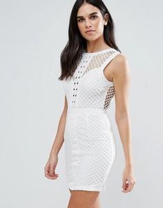 Кружевное платье-футляр Love & Other Things - Белый