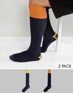 Набор из 2 пар носков из вафельного трикотажа под резиновые сапоги ASOS - Синий