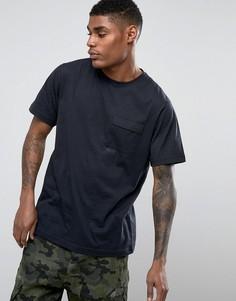Черная футболка с логотипом Maharishi - Темно-синий